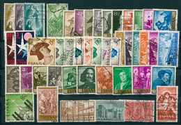 ESPAÑA 1957-58-59. AÑO COMPLETO - EDIFIL º1206/1253 - USADOS - Años Completos