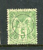 Rare N° 106 Cachet De Boult Aux Bois ( Ardennes 1899 ) - 1876-1898 Sage (Type II)