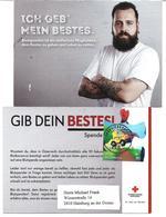 1630z1: Rotes Kreuz- Werbekarte Frankiert Mit Sondermarke Aus Dem Comics-Block 2283 Obersiebenbrunn 1.10.19 Post.partner - Gänserndorf