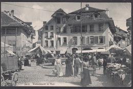 CPA  Suisse, Wochenmarkt In THUN, 1911 - BE Berne