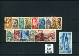 Franz. Zone, Baden, O, 16 - 29, Kplt. - Zona Francesa