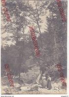 Au Plus Rapide Beau Format XIX ème Siècle Femme Enfant Promenade Sous-bois - Anciennes (Av. 1900)