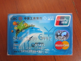 Invalided Master Credit Card, Dolphin And Hot Balloon,travel Card - Telefoonkaarten
