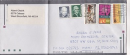 U.S.A. ENVELOPE, CIRCULATED 2004. WEST BLOOMFIELD TO MIAMI. MIXED STAMPS  -LILHU - Otros