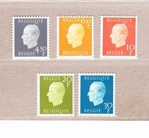1976 Nr 1811-15** Zonder Scharnier,zegels Blok 50 & 51.Koning Boudewijn. - Unused Stamps