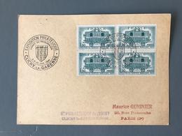 France N°609 (Bd4) Sur CP Commemorative - Expo Clichy La Garenne 1944 - (B1854) - Marcofilia (sobres)