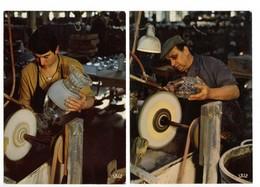 Cristallerie De BACCARAT (54) - Tailleur Au Travail (2 Cartes) - Baccarat