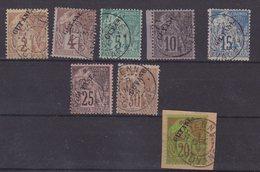 GUYANE : N° 17/24 . OBL . TB . 1892 . ( CATALOGUE YVERT ). - Französisch-Guayana (1886-1949)