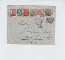 MAIL FROM LONDON TO MAESTRICHT 1915 - STAMP FROM 3  DIFFERENT  COUNTRIES - BELGIUM - DUTCH- ENGLAND - 1902-1951 (Kings)