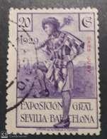 1929 Cabo Juby. Edifil 43 Exposiciones De Sevilla Y Barcelona. 20 Cts Violeta. - Cabo Juby