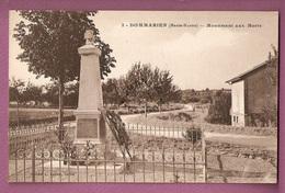 Cpa Dommarien Monument Aux Morts -  édition Nouvelle Cliché L Bauer - Autres Communes