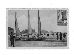 La Panne Chars à Voile Et La Plage. De Panne  Zeilwagens En Strand. - De Panne