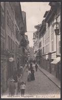 CPA  Suisse, LUZERN, Weggusgasse, 1908 - LU Luzern