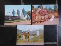 3 Cartes Postales Disques SONIM Expo58 & Congo Belge - Expositions Universelles