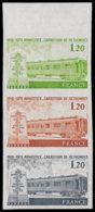 FRANCE   ** 2022 Bande De 3 Essais En Vert/brun/noir, Bdf: Wagon De L'armistice - Proofs