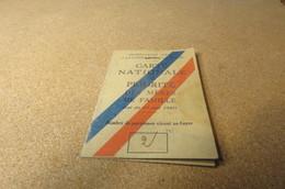 Carte Nationale De Priorité De Mère De Famille  Mme R...Bihorel 1944 Cachet Etat De Vichy - Vecchi Documenti