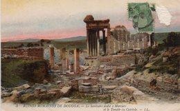 CP Tunisie Dougga Ruines Romaines Sanitaire Dédié à Mercure Temple Capitole - Tunisie
