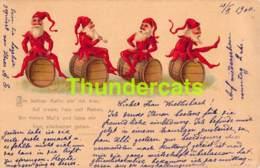 CPA ILLUSTRATEUR ARTIST SIGNED LITHO 1900 GNOME DWARF NAIN LUTIN ZWERGE LILLIPUT KABOUTER - Autres Illustrateurs