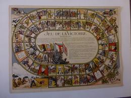 ANCIEN JEU SUR PAPIER INTITULE, JEU DE LA VICTOIRE 36;5 Cm X 27,5 Cm - Group Games, Parlour Games