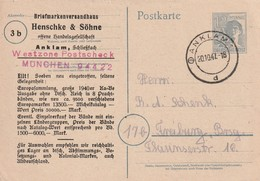 LETTRE - ZONE AAS - ENTIER POSTAL - Anklam Le 20/10/1947 - American,British And Russian Zone