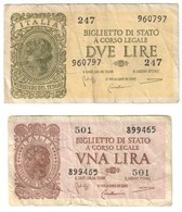 Italy Lot Set 1 - 2 Lire 1944 - Italia – Collezioni