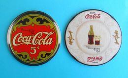COCA-COLA .... Lot Of 2. Croatian Vintage Beautifull Cardboard Coasters * MINT CONDITION !!! - Coasters