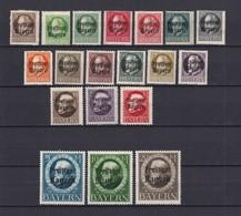 Bayern - 1919 - Michel Nr.  152/170  A - Ungebr. - Bavaria