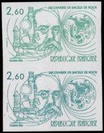 FRANCE   ** 2246 Paire D'essais En Vert Et émeraude: Bacile De Koch, Microscope - Essais