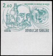 FRANCE   ** 2246 Essai En Vert, Bdf: Bacile De Koch, Microscope - Essais