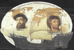 SPAIN,  2019, MNH, JOINT ISSUE WITH PORTUGAL, MAGELLAN, GREAT EXPLORERS, SHIPS, S/SHEET - Emissions Communes