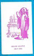 Holycard    Litanie   St. Maurus   O.L.V. Ten Steen   Tienen - Images Religieuses