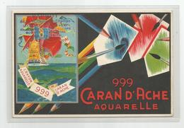 Pub Publicité 999 Caran D'ache Aquarelle Pour Le Coloriage Des Photographies Format Cpm - Reclame