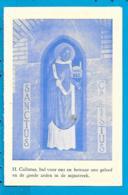 Holycard    St. Callistus   Neerbeek - Images Religieuses