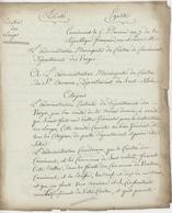 Franchise Cornimont (Vosges)  An 7 - 24.1.1799 Chasse Et Battue Et Destruction Des Loups - Postmark Collection (Covers)
