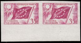 FRANCE Service  ** 20 Paire En Lilas, Bdf: 35f. Conseil De L'Europe - Prove