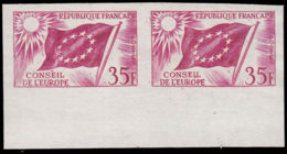 FRANCE Service  ** 20 Paire En Lilas, Bdf: 35f. Conseil De L'Europe - Probedrucke