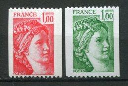 16407 FRANCE N°1981/1A** 1F Rouge, 1F Vert  Sabine    1978   TB/TTB - Rollo De Sellos