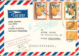 Bangladesh Registered Air Mail Cover Sent To Germany 20-8-1990 Topic Stamps - Bangladesh