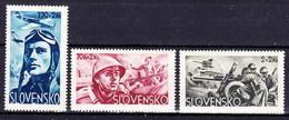 Slovaquie 1943 Mi 121-3 (Yv 87-9), (MNH)** - Slovakia