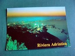 (FG.V13) RIVIERA ADRIATICA - PANORAMA NOTTURNO (viaggiata) - Rimini