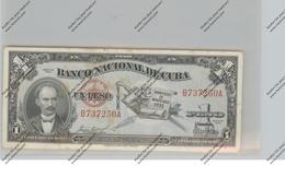 BANKNOTE - CUBA, Pick 86, 1 Peso, 1953, VF - Cuba
