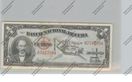 BANKNOTE - CUBA, Pick 86, 1 Peso, 1953, VF - Kuba