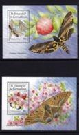 St.Vincent & The Grenadines,butterflies,2 S/s,mint/** - Butterflies