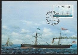 1983 - FOROYAR - Card + Michel 81 [Thyra] + TORSHAVN - Féroé (Iles)
