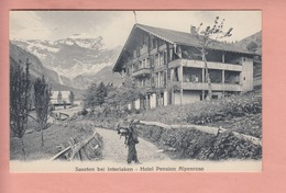 OLD POSTCARD - SWITZERLAND - SCHWEIZ -  SUISSE -     SAXETEN - HOTEL PENSION ALPENROSE - BE Berne
