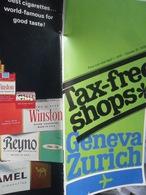 Tax Free Geneva Zurich Tabac Parfume - Vluchtmagazines