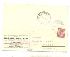 JUDAICA MARKUS DEUTSCH PANCEVO YEAR 1939 - Serbien