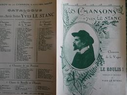 Partition Ancienne YVes Le Stanc Barde Breton Le Roulis Chanson De La Vague - Partitions Musicales Anciennes