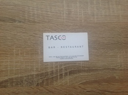 Carte De Visite De   Bar Restaurant    - Restaurant    Tasco    Paris 15eme   Resto Verso  Tres Bon Etat - Cartoncini Da Visita