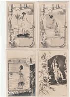 """5 CPA:""""GENNERT"""" SŒURS DULAC & MARVILLE,GRANDE CHEVELURE ASTHON,LILIANE BORD DE MER,DE MAURIAC,TARNIER ÉPUISETTE - Künstlerkarten"""